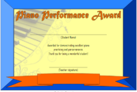 Piano Certificate Template Free Download 3
