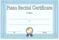 Piano Recital Certificate Free Printable 1