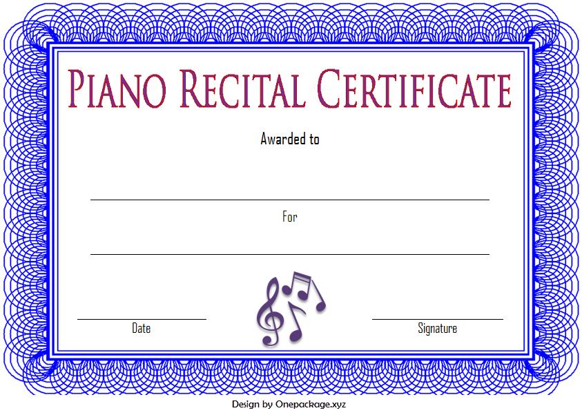 piano certificate template, piano recital certificate template, piano exam certificate template, piano certificate free printable, piano recital certificate free printable