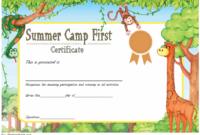 Summer Camp Certificate Design Template FREE 1