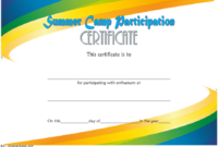 Summer Camp Certificate of Participation Template Free 1