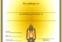 Summer Camp Certificate of Participation Template Free 2