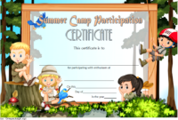 Summer Camp Certificate of Participation Template Free 3
