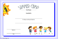 Summer Camp Certificate of Participation Template Free 4
