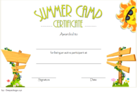 Summer Camp Certificate of Participation Template Free 5