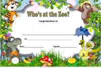 Who Zoo Certificate Template Free Download 1