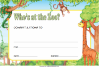 Who Zoo Certificate Template Free Download 2