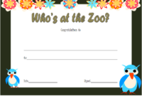 Who Zoo Certificate Template Free Download 3