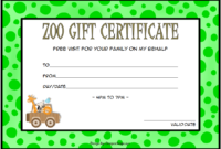 Zoo Gift Certificate Template FREE 1