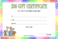 Zoo Gift Certificate Template FREE 2