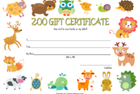 Zoo Gift Certificate Template FREE 3