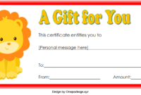 Zoo Gift Voucher Template Free Printable 1