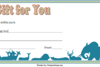 Zoo Gift Voucher Template Free Printable 2