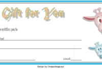 Zoo Gift Voucher Template Free Printable 3