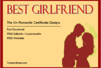 best girlfriend certificate template, best girlfriend certificate printable, best girlfriend award certificate template, best girlfriend in the world certificate