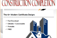 10+ Certificate of Completion Construction Templates Free Download by Two Package