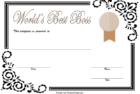 Best Boss Award Certificate Template Free 1
