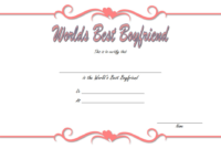 Best Boyfriend Certificate Printable Free Download