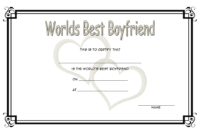 Best Boyfriend Ever Certificate Printable Free 1