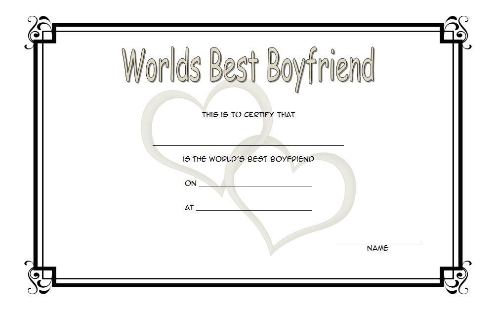 world's best boyfriend certificate, best boyfriend award certificate, best boyfriend ever certificate, best boyfriend certificate printable, best boyfriend certificate free
