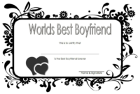 Best Boyfriend Ever Certificate Printable Free 3