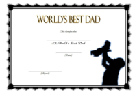 Best Dad Ever Certificate Template Free 1
