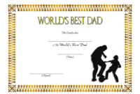 Best Dad Ever Certificate Template Free 2