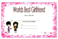 Best Girlfriend in The World Certificate Printable Free 1