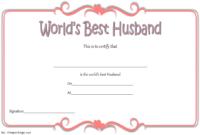 Best Husband Award Certificate Free Printable 1
