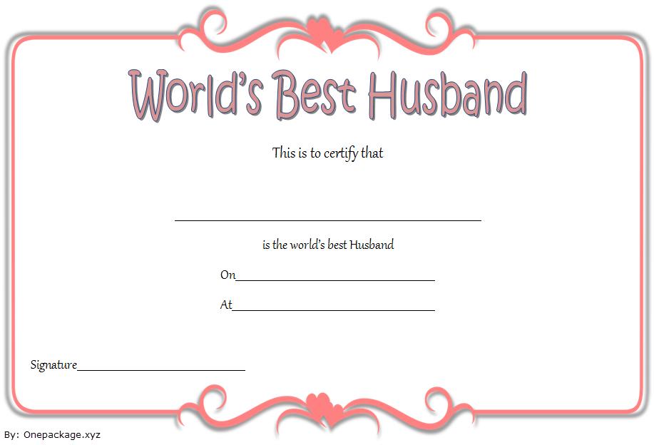 world's best husband certificate template, best husband award certificate free, best husband ever certificate, best husband certificate template, free printable best husband certificate