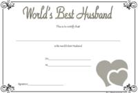 Best Husband Award Certificate Free Printable 2