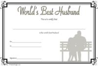 Best Husband Award Certificate Free Printable 3