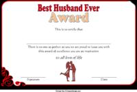 Best Husband Ever Certificate Template Free 1