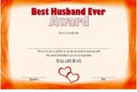 Best Husband Ever Certificate Template Free 3