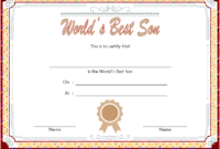 Best Son Award Certificate Template Free Editable 1
