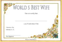 Best Wife Award Certificate Template Free 2