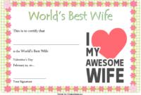 Best Wife Award Certificate Template Free 3