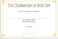 Boss Day Certificate Template Free Printable 1