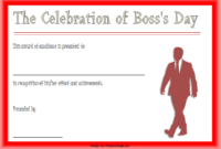 Boss Day Certificate Template Free Printable 3