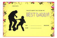 Certificate for Best Dad FREE Printable 1