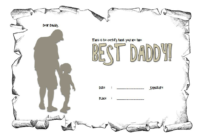 Certificate for Best Dad FREE Printable 2