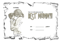 Certificate for Best Mom Award Free Template 1