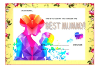 Certificate for Best Mom Award Free Template 2