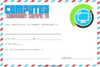 Computer Award Certificate Template FREE 2