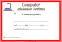 Computer Award Certificate Template FREE 3