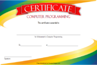 Computer Programming Certificate Template Word FREE 2