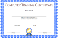 Computer Training Certificate Template FREE Printable 1