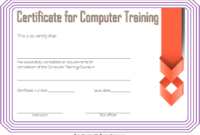 Computer Training Certificate Template FREE Printable 2