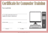 Computer Training Certificate Template FREE Printable 3