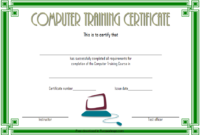 Computer Training Certificate Template FREE Printable 4